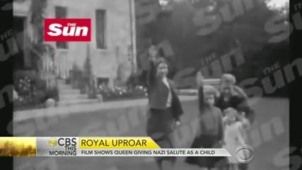 1933 Queen Elizabeth giving Nazi salute as a child/ По късно King Edward Viii гостува на нашия Фюрер