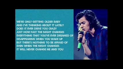 One Direction - Night Changes (lyrics)