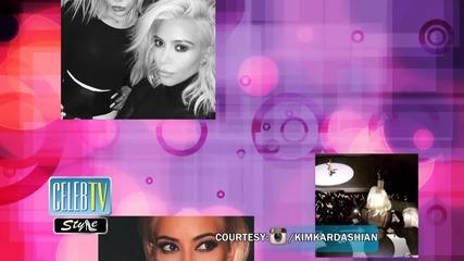 White Hot! Kim Kardashian Goes Blonder and Miley Cyrus Reacts!