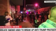 Up Close Video - Mouthy Woman Trump Protester Gets Pepper Sprayed Shower By Albuquerque Police
