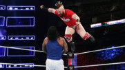 Sheamus launches an attack from the top rope against The Usos: Survivor Series 2017 (WWE Network Exclusive)