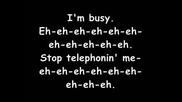 Lady Gaga feat. Beyonce - Telephone + Lyrics