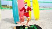 Christmas 2015 Surfing Santas Cocoa Beach ( Official Video )
