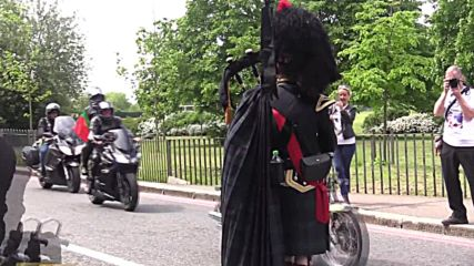 UK: Thousands of bikers ride through Woolwich to commemorate Lee Rigby