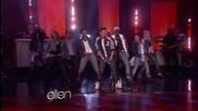 Джъстин изпълнява Boyfriend в шоуто на Елън