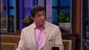 Звездата Силвестър Сталоун в късното шоу на Джей Лено 2-ри Август (2010)