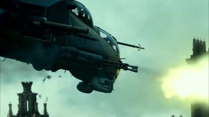 Умирай Трудно 5 - сцената с хеликоптера