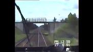 """Легендарният руски дизелов локомотив """" Ludmilla """" Br 232 развърта 140 км/ч в германските железници"""