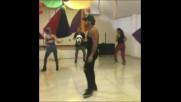 Catherine Siachoque, Carmen Villalobos y Fabian Rios Bailando