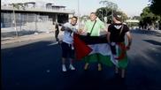 Феновете на Алжир и Белгия се забавляват преди мача