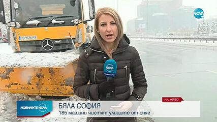 Сняг заваля на много места в страната
