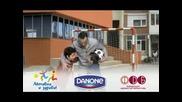 Данон и Бербатов - заедно за децата