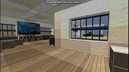 Minecraft Колежанска къща на плажа напълно обзаведена :d