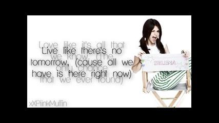 Selena Gomez - Live like theres no tomorrow - Full Song - Lyrics on Screen