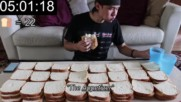 Да изядеш 100 сандвича 100 Slices of Bread Challenge