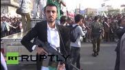 Yemen: Armed protesters SWAMP Sanaa's streets decrying Saudi-led airstrikes