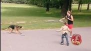 Куче изяжда куче :) Скрита камера