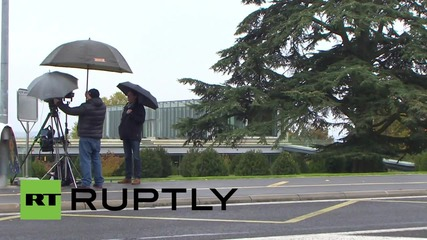 Switzerland: Officials arrive for UEFA crisis meeting following Platini ban