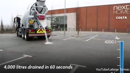 Бетон поглъща над 4000 литра вода !