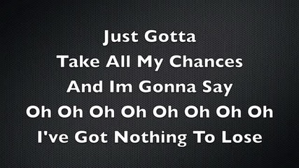 Nothing To Lose Lyric's - Mike Hough (original)