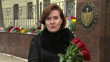 Russia: Flowers and cigars pepper Moscow's Cuban embassy after Fidel's death