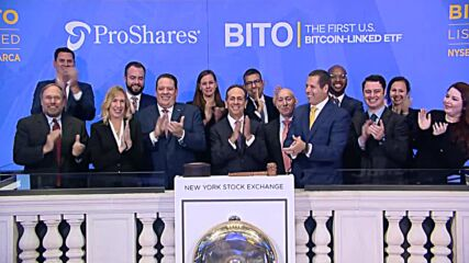 USA: Bitcoin futures ETF advances nearly 5% in NYSE trading debut