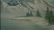 S01 Радостта на живописта с Bob Ross E12 - снеговалеж ღобучение в рисуване, живописღ