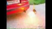 Яко - Какво Става Като Се Сипе Бензин В Аспух