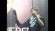 Justin Bieber doing the Cowbell in London, Uk 16.03.2011