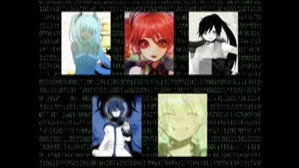 The Disappearance of Hatsune Miku, Kagamine Len, Kaito, Kasane Teto, and Nagone Mako