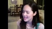 Момиче Пее No Air Страхотно