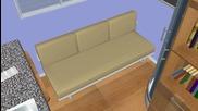Cube - малки и евтини сглобяеми къщи. Модел qb-33, 9 кв/м