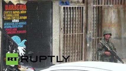 Венецуела: Тежко въоръжени сили на сигурността патрулират Каракас след атаките над полицията