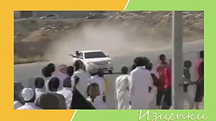 Жестоки арабски дрифтове и разбивания
