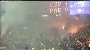 Фенове на Партизан подпалиха южната трибуна на Мала Маракана