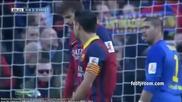 Барса стъпи на криво на Камп Ноу срещу Валенсия! 01.02.2014 Барселона - Валенсия 2:3