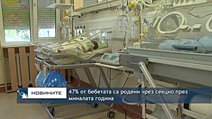 47% от бебетата са родени чрез секцио през миналата година