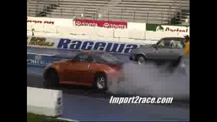 Nissan 350z Twin Turbo Vs Ford Mustang