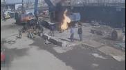 Фатална грешка на работници завършва с пожар !