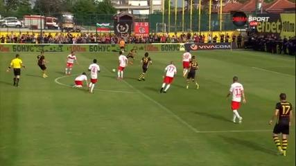 Гол на Ботев за 1:0 срещу ЦСКА