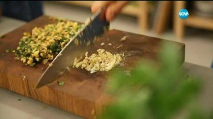 """Поширана в зелен чай риба и гремолата с пресен лук в """"Бон Апети"""" (12.05.2015г.)"""