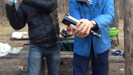 Как да отворим бутилка вино с минерална вода