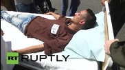 State of Palestine: Rally held in support of hunger striker Mohammed Allan