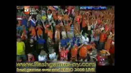 ЕВРО 2008 Холандия повежда на Италия с 1:0 - 10.06.2008 HQ