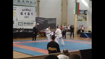 Георги Йорданов Юдсв 1/4финал 24.03.2012 Киокушин карате