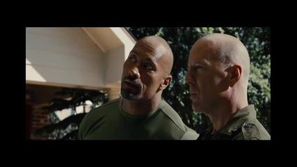 Gijoe: Ответен удар - първи откъс от филма с Брус Уилис и Скалата