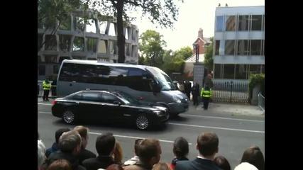 На Обама му заседна колата пред Дъблинското Посолство Май 23ти 2011