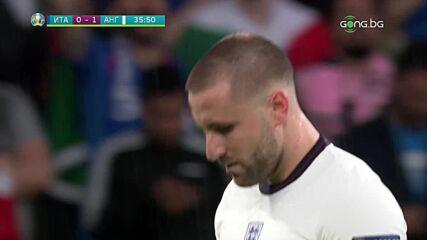 Италия - Англия 0:1 /първо полувреме/