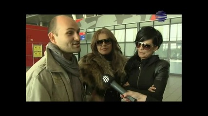 Интервю с Преслава и Галена при завръщането от Дубай