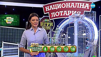 """Теглене на играта Лото 5/35 """"Златната топка"""" - 05.07.2019г."""